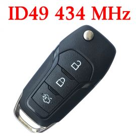 After-Market 434 MHz 3 Buttons Proximity Flip Remote Key for Ford 2015 ~ 2018 - ID49