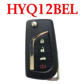 3+1 Buttons 315 MHz Flip Remote Key for Toyota Camry Corolla 2014-2017 with H Chip - HYQ12BEL