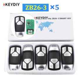 Universal ZB26-3 KD Smart Key Remote for KD-X2 - Pack of 5