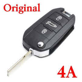 Original 3 Buttons 434 MHz Proximity Flip Key for Peugeot with 4A Chip
