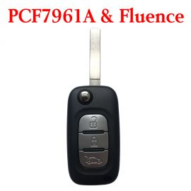 3 Buttons 434MHz PCF7961A Flip Remote Key for Renault Sambol Kafic Fluence