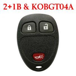 3 Buttons 315 MHz Remote Control for GM Buick Chevrolet Pontiac - KOBGT04A