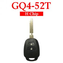 2 Button 433MHz Remote with for Toyota RAV4 Corolla - GQ4-52T (H Chip)