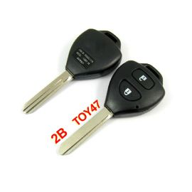 2 Buttons Key Shell with TOY47 Blade for Toyota Corolla (5 PCS)