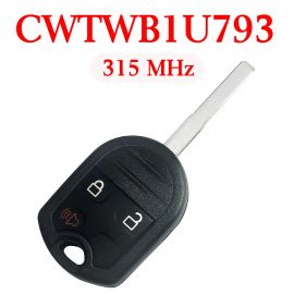 (315Mhz) CWTWB1U793 3 Buttons Remote Head Key for Ford Fiesta 2015-2017 - ( with 4D63 80 Bit Chip)