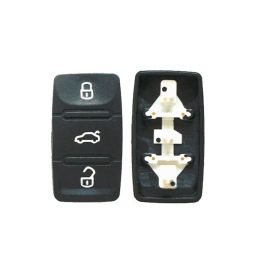 3 Buttons Remote Key Rubber Pad for VW - Pack of 10