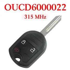 (315Mhz) OUCD6000022 CWTWB1U793 3 Buttons Remote Head Key for Ford / Mercury 2001-2018 - (with 4D63 80 Bit Chip)