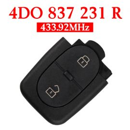 2 Buttons 434 MHz Remote Key Head for Audi - 4D0 837 231R