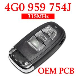 3 Buttons 315 MHz Smart Proximity Key for Audi A6L A8L - 4G0 959 754J - with OEM PCB