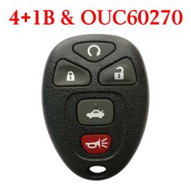 5 Buttons 315 MHz Remote Control for Buick Chevrolet GMC Saturn - OUC60270  OUC60221