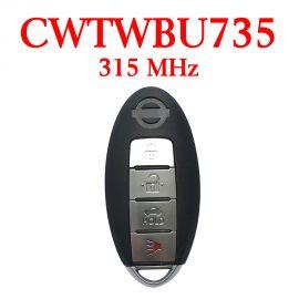 (315Mhz) CWTWBU735  3+1 Buttons Smart Proximity Key for Nissan Maxima / Sentra 2007-2012