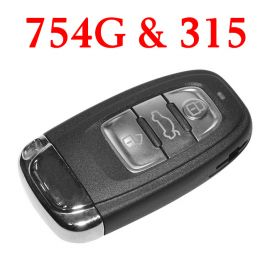 3 Buttons 315 MHz Remote Key for Audi A4L Q5 - 8K0 959 754 G
