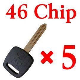 Transponder key for Nissan with 46 chip 5pcs