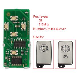 for Toyota Smart Card Board 5 Button 312MHz Number 271451-6221JP