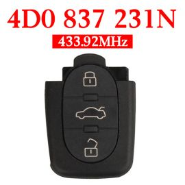 3 Buttons 434 MHz Remote Key Head for Audi A6 Europe South America - 4D0 837 231N