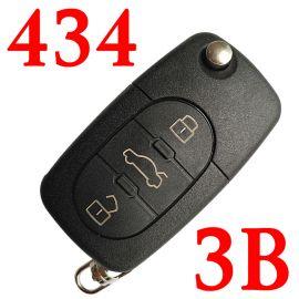 3 Buttons 434 MHz Filp Remote Key for Audi - ID48 4D0 837 231