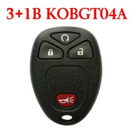 4 Buttons 315 MHz Remote Control for Chevrolet Buick GMC Saturn - KOBGT04A