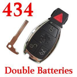3+1 Buttons 434 MHz  NEC Smart Key For Mercedes Benz C E S Class (2 Batteries) - With Double Batteries