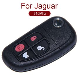 4 Buttons Flip Remote Key for Jaguar - 315 MHz 434 MHz Changeable Frequency