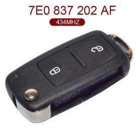 2 Buttons 315 MHz Flip Key for New VW - 5K0 837 202AF 202 AF