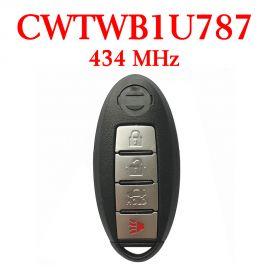434 MHz 3+1 Buttons Smart Proximity Key for Nissan Armada 2017 - CWTWB1U787