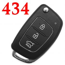 3 Buttons 434 Mhz Flip Remote Key for Hyundai IX35 - ID46