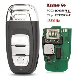 3 Buttons 434 MHz Smart Proximity Key for Audi Q5 A4L - 754J