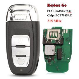 3 Buttons 315 MHz Smart Proximity Key For Audi Q5 A4L - 8T0959754J 8T0959754F