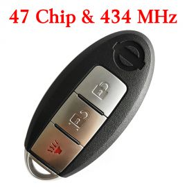 (434MHz) KR5S180144014 (47 Chip) 2+1 Buttons Smart Proximity Key for Nissan Pathfinder 2013-2016