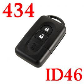 Remote Control Key For Nissan Micra 2 Buttons 433MHz with PCF7936 ID46 Chip
