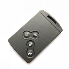 4 Buttons Remote Card Shell with Emergency Key for Renault Fluence - Pack of 5