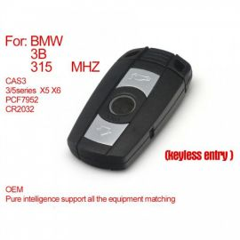 CAS3 Key 3 Buttons PCF7952 (Keyless-entry) for BMW 315MHZ 433MHZ 868MHZ