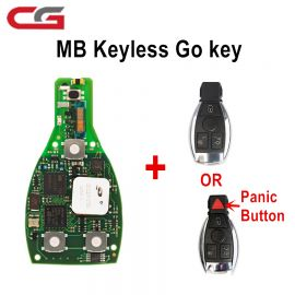New CG Mercedes Keyless Go One-key start 315MHZ and 433MHZ with Key Shell