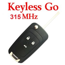 (315 MHz) Keyless Go 3 Buttons remote for Chevrolet ID46