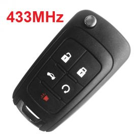 (433Mhz) 4+1 Buttons Flip Remote Key for Chevrolet