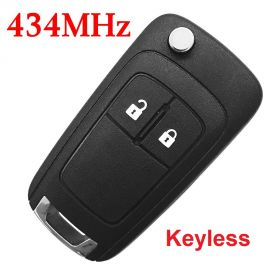 (433Mhz) Keyless Go 2 Buttons Flip Remote for Chevrolet Cruze ID46