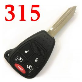 (315MHz) OHT692427AA 5 Buttons Remote Head Key for Dodge / Chrysler