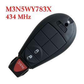 434 MHz 2+1 Buttons Remote Fobik Key for Chrysler / Dodge / Jeep / VW 2008-20017 #0 - M3N5WY783X