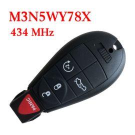 434 MHz 3+1 Button Remote Fobik Key for Chrysler / Dodge 2008-2017 - M3N5WY783X /  IYZ-C01C