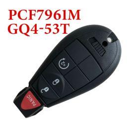 434 MHz 3+1 Button Remote Fobik Key for Jeep Chrysler / Dodge - PCF7961M GQ4-53T