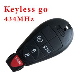 434 MHz 5 Buttons Smart Proximity Keyless Go Remote Key for 2008-2014 Dodge Chrysler - PCF7952