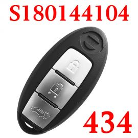(434 MHz) KR5S180144104 3 Buttons Smart Keyless Go Key for Nissan New Teana X-Trail with 4A Chip