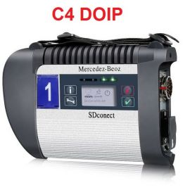 DOIP SD C4 PLUS Compact 4 Star Diagnosis Scanner with Free DTS Monaco,Vediamo,HHT-WIN Supports DoIP Protocol for Cars,Trucks