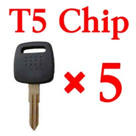Transponder key for Nissan with T5 chip 5 pcs