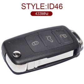 3 Buttons 434 MHz Flip Smart Proximity Key for VW Touareg