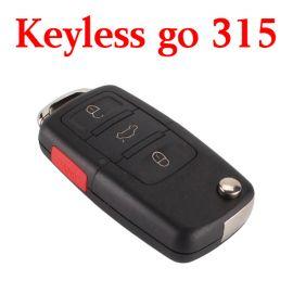 3+1 Buttons 315 MHz Flip Proximity Key for VW Touareg A8 Bentley