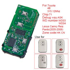 for Toyota Smart Card Board 4 Button 315.12MHz Number 271451-0140-HK-CN