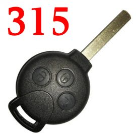 3 Buttons 315 MHz Remote Key for Mercedes SMART  - with PCF7941 ID46 Chip