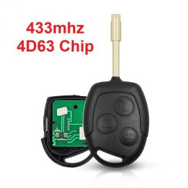 (434MHz) 3 Buttons  Remote Head Key for Ford with 4D63 80 Bit Chip