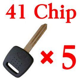 Transponder key for Nissan with 41 chip 5 pcs